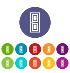 Door set icons vector image
