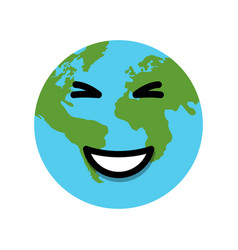 earth globe laughs vector image