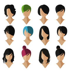 face flat icon vector image