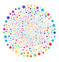 Fireworks star decoration round cluster vector