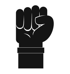Fist icon simple style vector