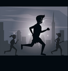 fitness man running vector image