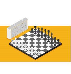 flat chess isometric game isometric series vector image