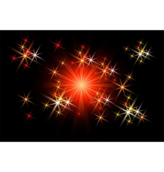 glowing rays vector image