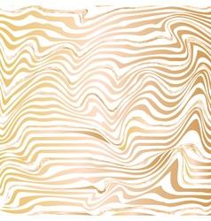 Golden abstract wave line ink texture vector