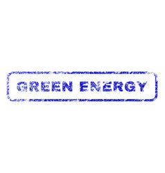 Green energy rubber stamp vector