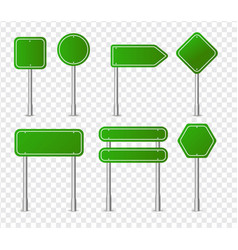green traffic sign icon collection vector image