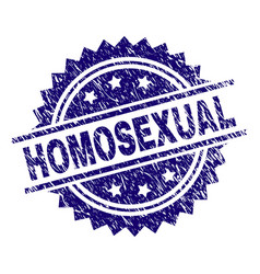 Grunge textured homosexual stamp seal vector