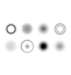 halftone effect design elements set vector image