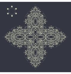Islamic cross like mandala ornament over gray vector image