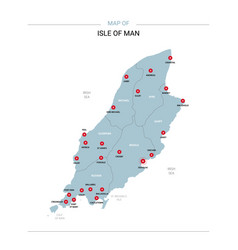 isle of man map with red pin vector image