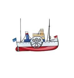 kids toy steamship vector image