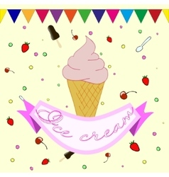 Label for ice cream vector image