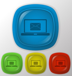 laptop with letter envelope vector image