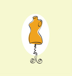 Mannequin stand female tailor icon vector