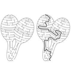 maracas maze vector image