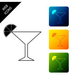 martini glass icon isolated on white background vector image