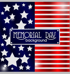 Memorial day background american flag vector