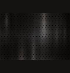 Modern black metal texture background vector