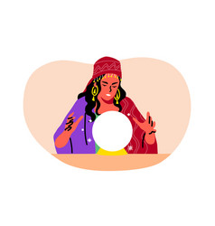 Mystery fortune telling astrology future vector