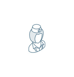 nurse avatar doctor isometric icon 3d line art vector image