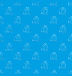 Orangutan pattern seamless blue vector