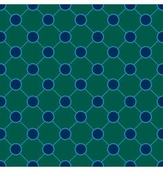 Peacock Polka dot Chess Board Background vector image