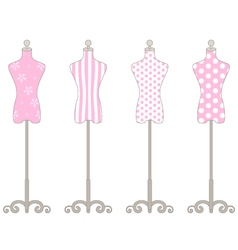Pink Mannequin Collection vector image