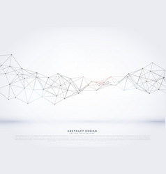 Polygonal abstract network wireframe background vector