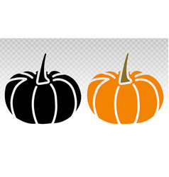 Pumpkins flat icon on transparent background vector