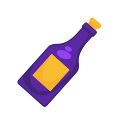 Purple colored bottle vector