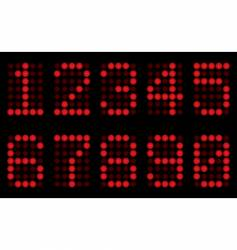 red digits for matrix display vector image