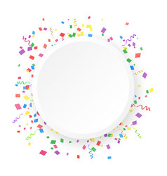 round banner on a white background with colored vector image