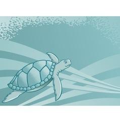 sea turtle background vector image