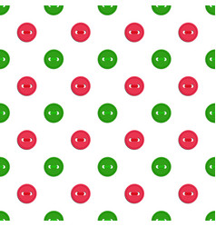 seamless pattern with green abd red buttons vector image