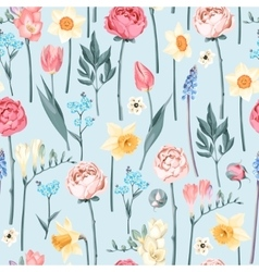 Seamless vintage flowers vector