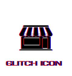 Showcase kiosk icon flat vector