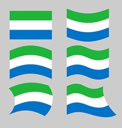 Sierra Leone flag Set flags Siera Leones Republic vector