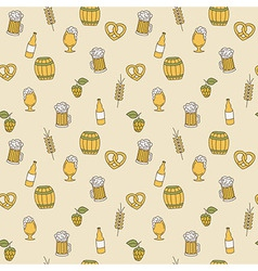 Simple beer seamless pattern Doodle design vector