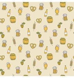 Simple beer seamless pattern Doodle design vector image