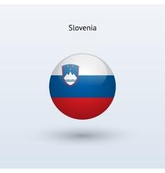 Slovenia round flag vector