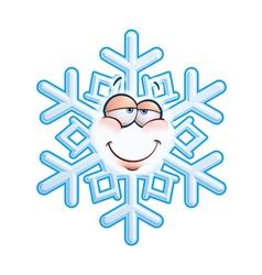 SnowFlake Emoticon In Love vector image