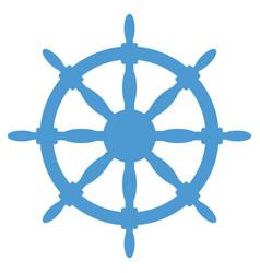 steering wheel silhouette vector image