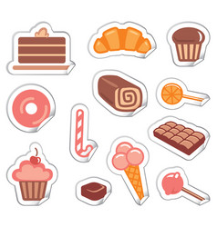 stickers of sweets vector image