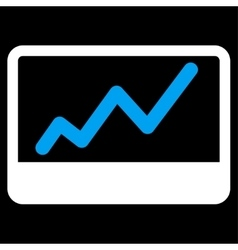 Stock Market icon from Business Bicolor Set vector image