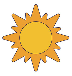 sun solar symbol isolated vector image