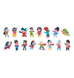 superhero boys and girls characters cartoon kids vector image
