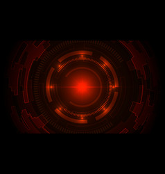 Technology dark red background with hi-tech vector
