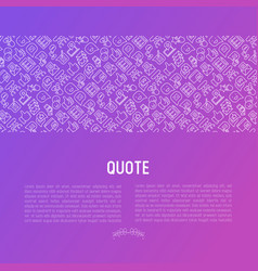 testimonials and quote concept vector image
