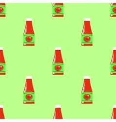 Tomato Ketchup Seamless Pattern vector